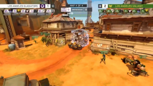 Attaque et Défense Triple Tank Los Angeles Valiant contre Los Angeles Gladiators - Stratégie Overwatch