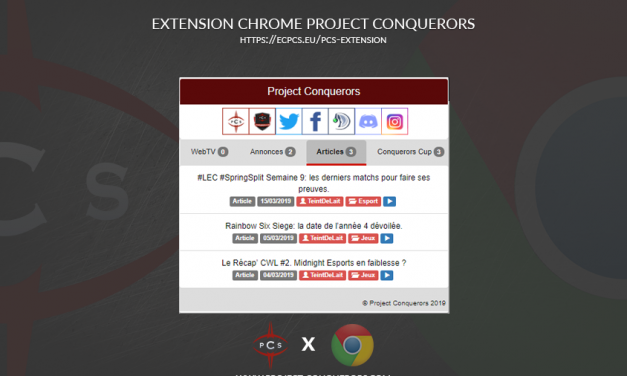 Extension Chrome de l'Association