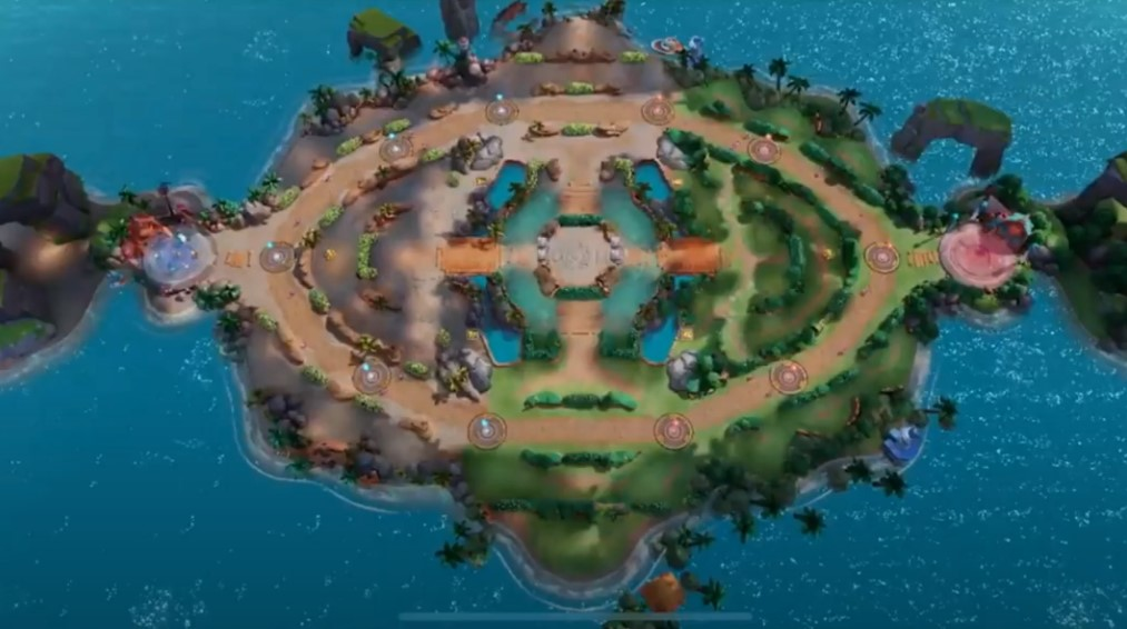 "Map du MOBA pokémon ""Pokemon Unite"""