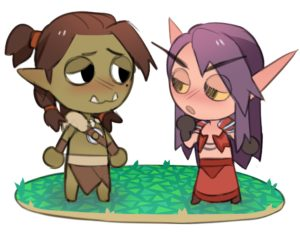 Personnages de WoW redessinés à la manière d'Animal Crossing