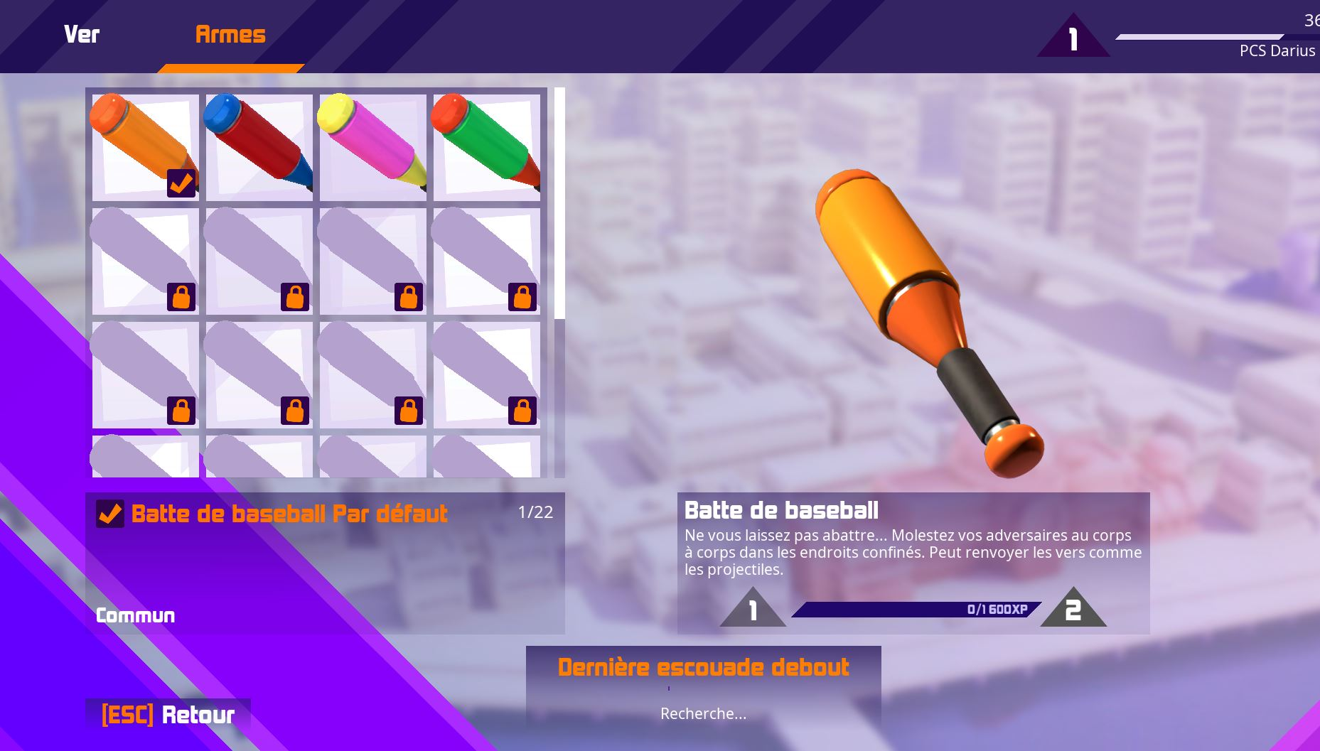 Personnalisation Armes - Worms Rumble